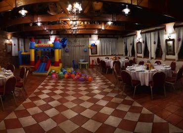panoramski izgled dvoarne za svadbe Dvorana u prizemlju/Rustika restorana Taverna Kraljevec