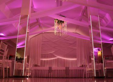 izgled sale za vjenjcanja dvorana na katu sa bine rozo osvjetljenje nizi pogled