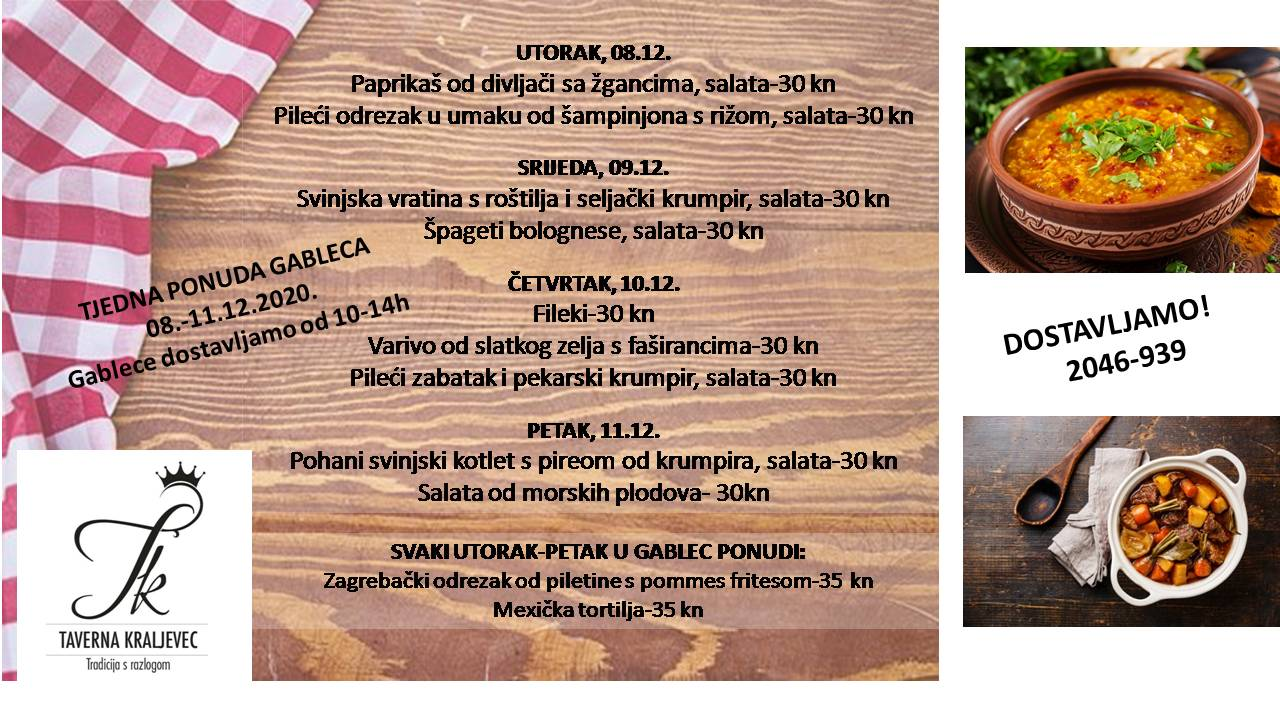 GABLEC PONUDA 08.-11.12.